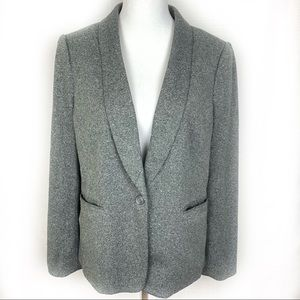 Loft Single Button Career Blazer Jacket